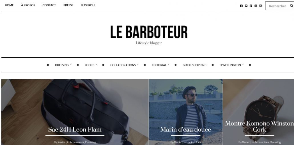 blog mode homme le barboteur