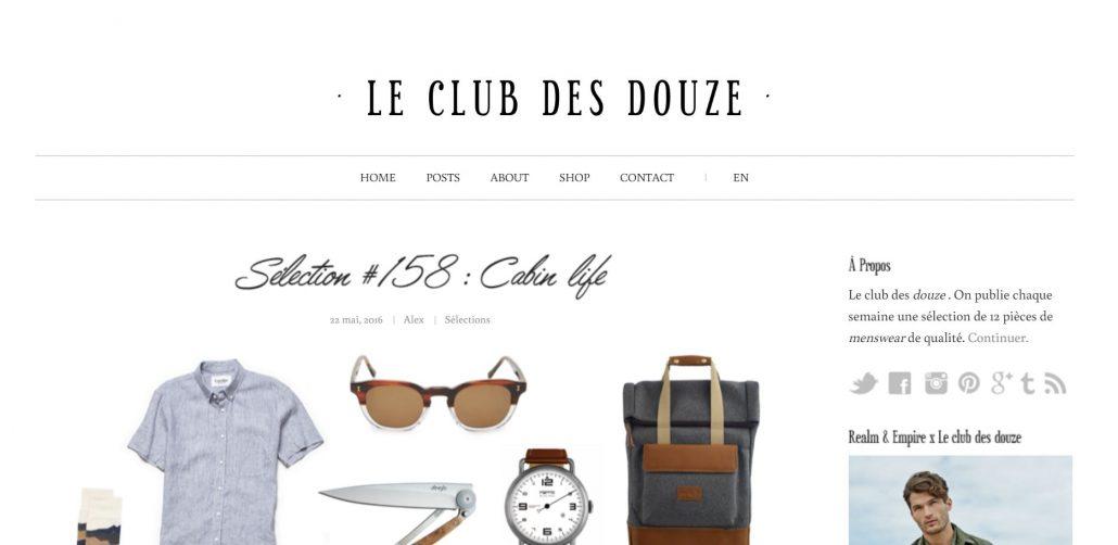 Blog mode homme le club des douze