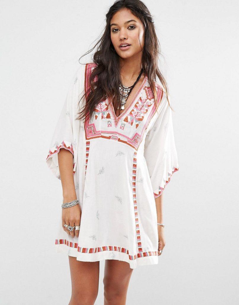 robe bohème blanche asos