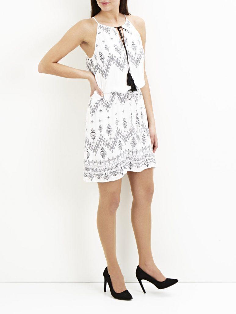 robe courte bohème blanche