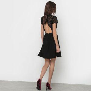 robe de fete noire la redoute