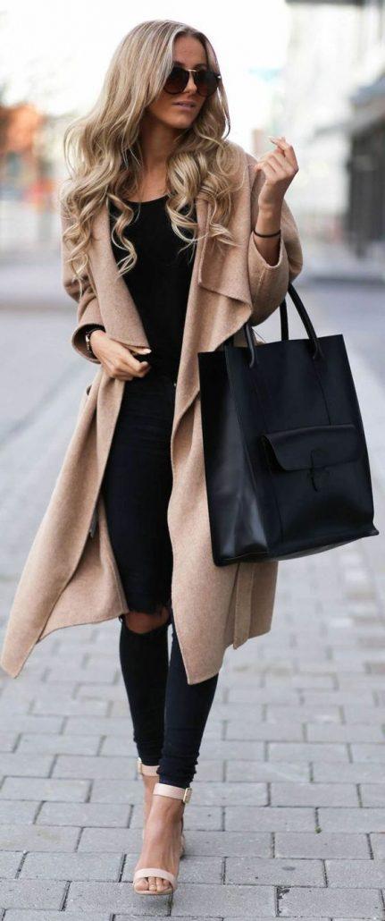 Long manteau femme