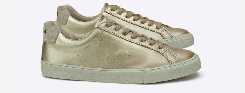 Sneakers esplar leather gold veja