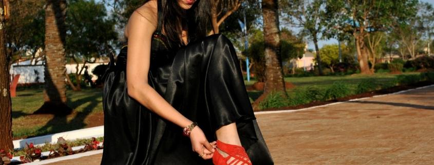 Chaussures avec robe noire